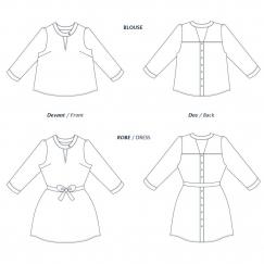 Blouse/Robe Tiga