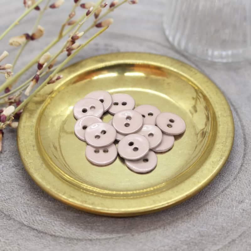 Glossy Buttons - Blush