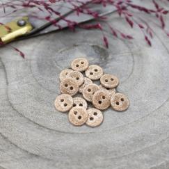Glitter Buttons - Blush