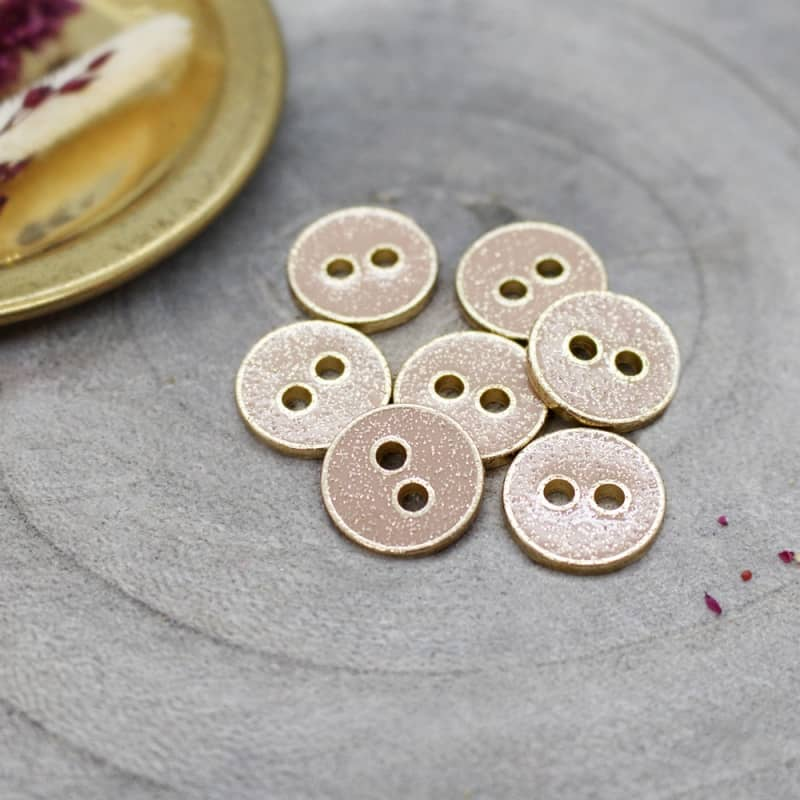 Joy Glitter Buttons - Maple