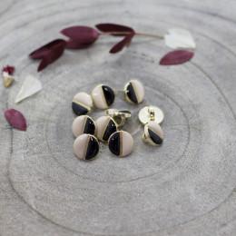 Wink Buttons Black - Blush