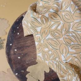 Petal Mustard Fabric