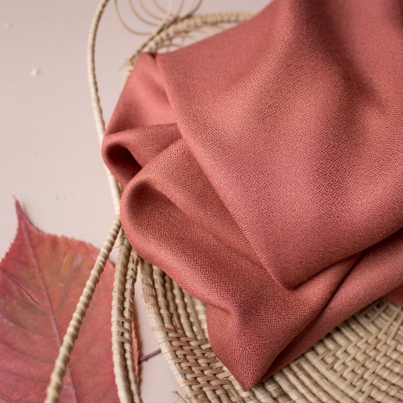 Crepe Chestnut Fabric