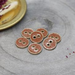 Joy Glitter Buttons - Chestnut