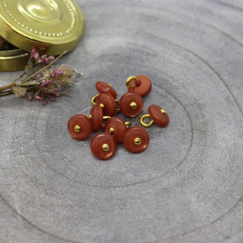 Jewel Buttons - Chestnut