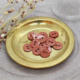 Glossy Buttons - Chestnut