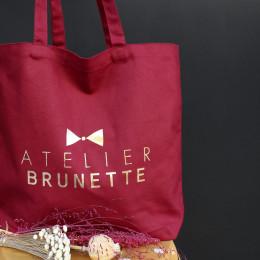 Tote Bag Atelier Brunette Amarante