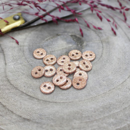 Glitter Buttons - Powder