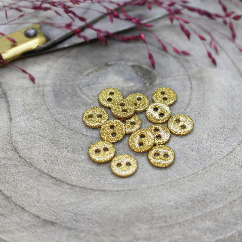 Glitter Buttons - Mustard