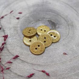 Boutons Glitter - Mustard