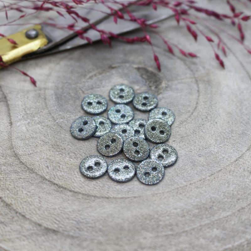 Glitter Buttons - Storm