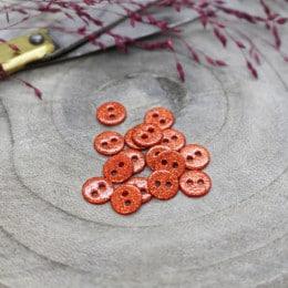 Glitter Buttons - Tangerine