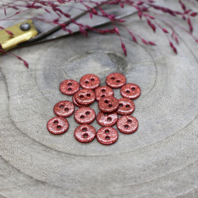 Boutons Glitter - Terracotta