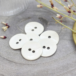 Glossy Buttons - Off-White