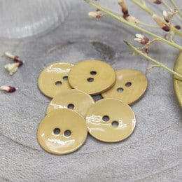 Glossy Buttons - Mustard