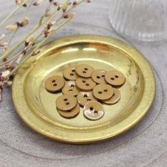 Glossy Buttons - Ochre