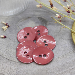 Glossy Buttons - Terracotta