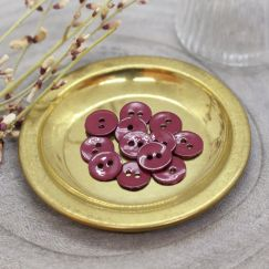 Glossy Buttons - Amarante
