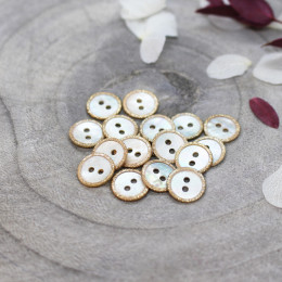 Glitz Buttons - Off-White
