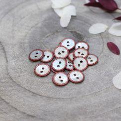 Glitz Buttons - Terracotta