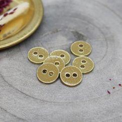 Joy Glitter Buttons - Mustard