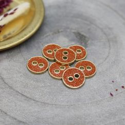 Joy Glitter Buttons - Tangerine