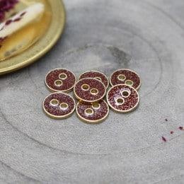 Joy Glitter Buttons - Amarante