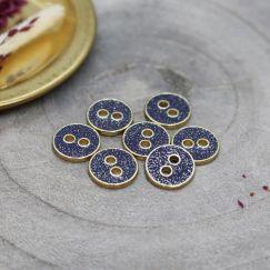 Joy Glitter Buttons - Cobalt