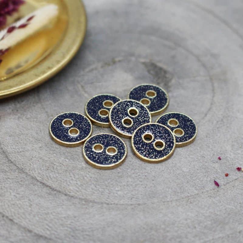 Joy Glitter Buttons - Midnight