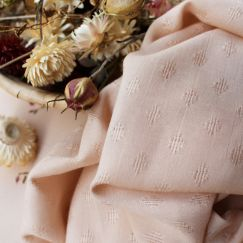 Tissu Diamond Blush