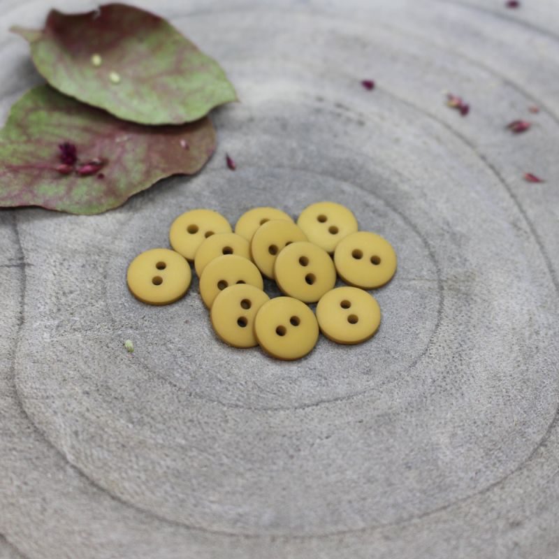 Boutons Classic Mat - Mustard