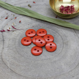 Classic Shine Buttons - Tangerine