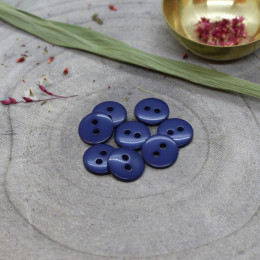 Classic Shine Buttons - Cobalt