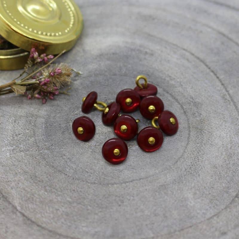 Boutons Jewel - Amarante