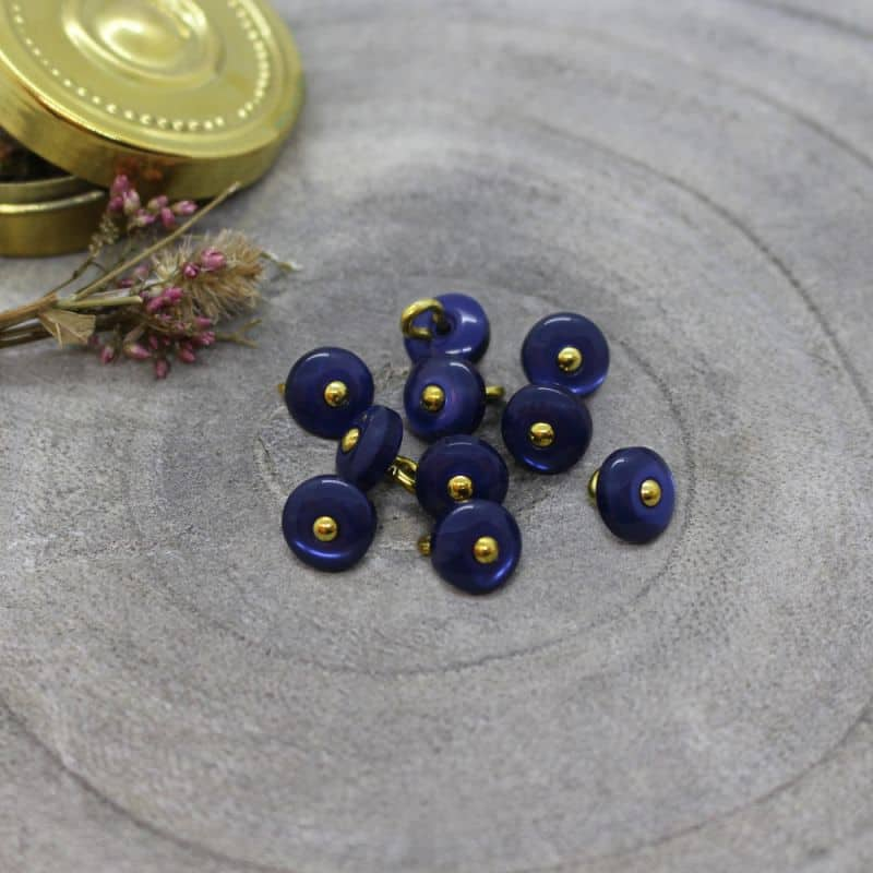 Jewel Buttons - Cobalt