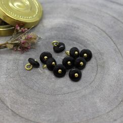 Jewel Buttons - Black