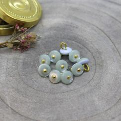 Jewel Buttons - Sage