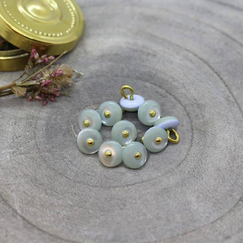Jewel Buttons - Sage