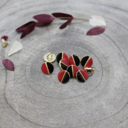 Wink Buttons Black - Terracotta