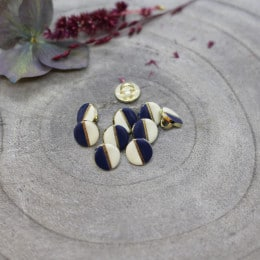 Wink Buttons Off-White - Midnight