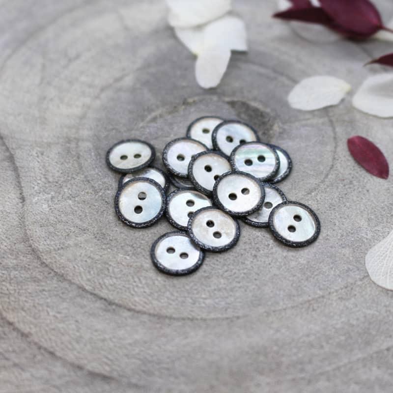 Glitz Buttons - Black