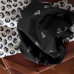 Bye Bye Birdie Black Fabric