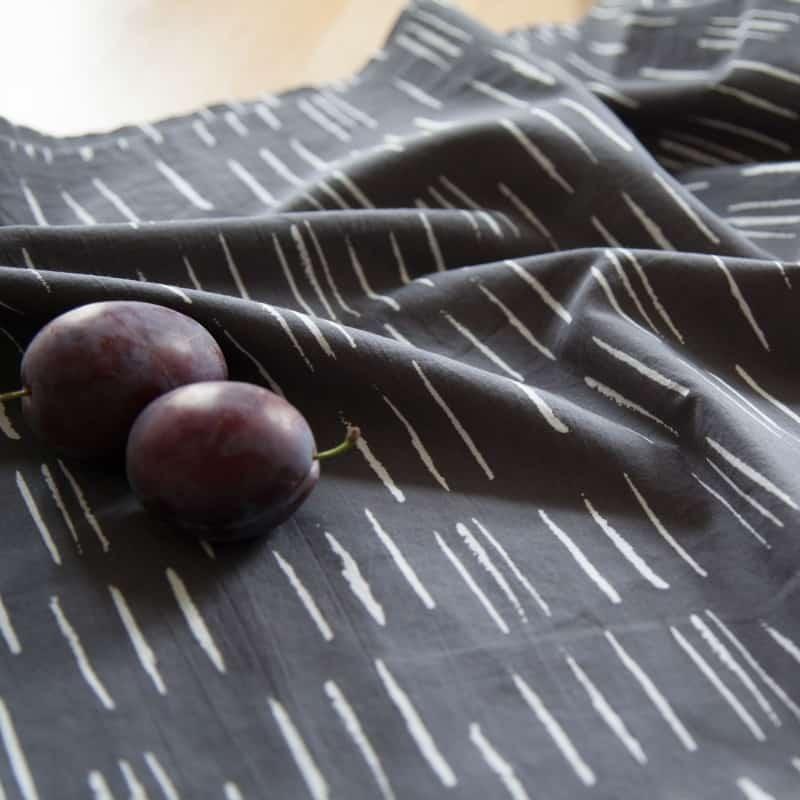 Chalk Charcoal Fabric