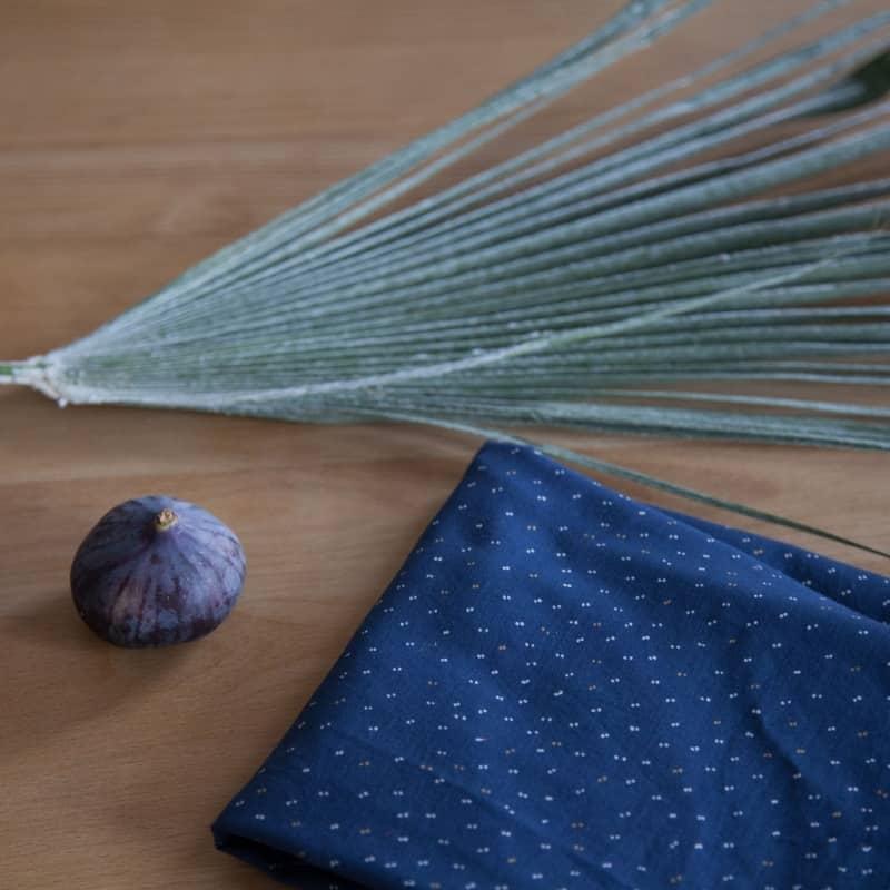 Sparkle Midnight Blue Fabric