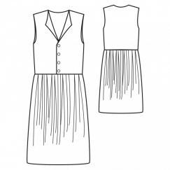 Prune dress
