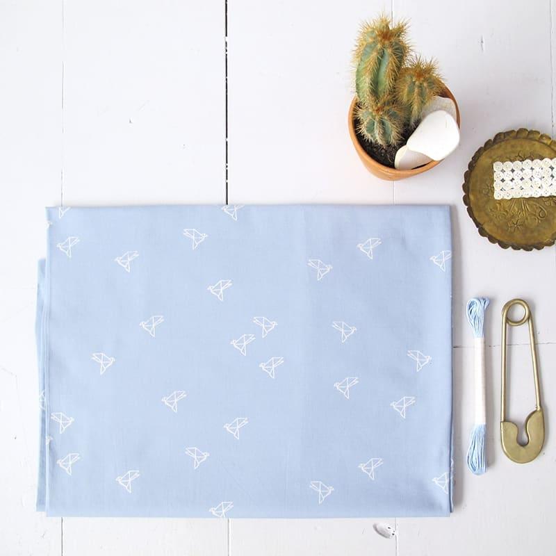 Bye Bye Birdie Blue Jean Fabric