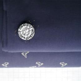 Tissu uni bleu navy