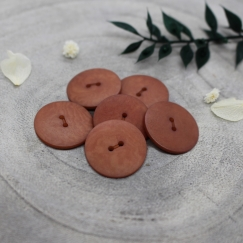 Palm Buttons - Chestnut