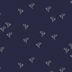 Bye Bye Birdie Navy Fabric