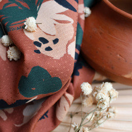 Posie Chestnut Fabric